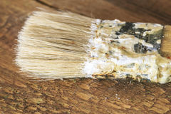 Grupp av gamla oxidtappninghjälpmedel paintbrushes Royaltyfria Foton