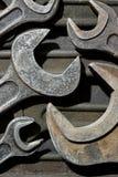 Grupp av gamla skiftnycklar Royaltyfri Foto