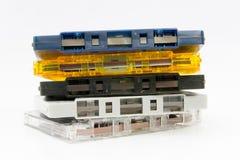 Grupp av gammala kassettband Royaltyfri Bild