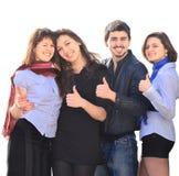 Grupp av glada deltagare Arkivfoto