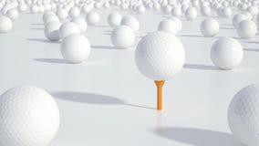 Grupp av golfbollar Arkivbild