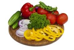 Grupp av grönsaker Arkivbild