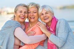 Grupp av högt le för kvinnor royaltyfri foto