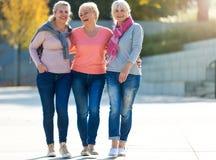 Grupp av högt le för kvinnor Arkivfoton