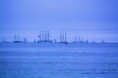 Grupp av högväxta skepp Arkivfoton
