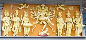 Grupp av hinduiska gudar Royaltyfria Foton