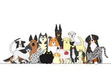 Grupp av hundkapplöpning och katter royaltyfri illustrationer