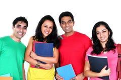 Grupp av indiska studenter Arkivbild