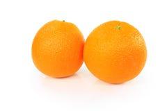 Grupp av isolerade apelsiner Royaltyfria Bilder