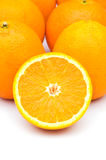 Grupp av isolerade apelsiner Royaltyfri Fotografi