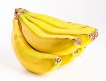 Grupp av isolerade bananer Arkivfoto