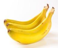 Grupp av isolerade bananer Fotografering för Bildbyråer