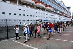 Grupp av japanska turister Royaltyfria Foton