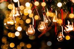 Grupp av jullampor Fotografering för Bildbyråer