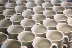 Grupp av kaffekoppar Arkivfoto