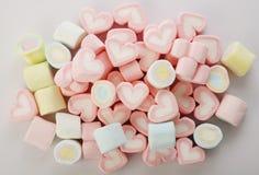 Grupp av kulöra marshmallower Royaltyfri Foto