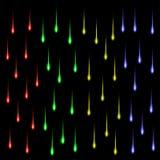 Grupp av kulöra stjärnor vektor illustrationer