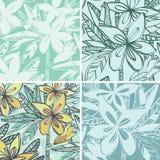 Grupp av kulöra wallpapers stock illustrationer