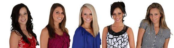 Grupp av kvinnor arkivfoton