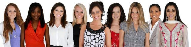 Grupp av kvinnor arkivbild