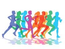 Grupp av löpare Arkivbild