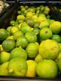Grupp av limefrukter royaltyfri fotografi