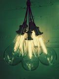 Grupp av ljusa kulor som ger klartecken Arkivbilder
