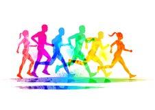 Grupp av löpare Arkivfoton