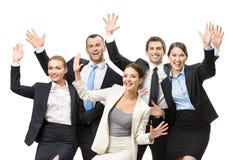 Grupp av lyckligt affärsfolk arkivfoto
