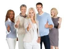 Grupp av lyckligt affärsfolk Fotografering för Bildbyråer