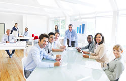 Grupp av mång- etniskt företags folk Arkivbilder