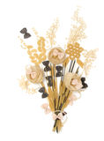 Grupp av makaroni, spagetti, degar på en vit bakgrund royaltyfria bilder