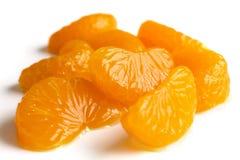 Grupp av mandarinsegment arkivbild
