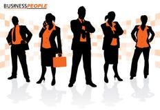 Grupp av manligt och kvinnligt affärsfolk Arkivfoto
