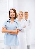 Grupp av medicinska arbetare Arkivfoto