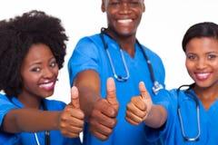 Afrikanskt medicinskt lag Royaltyfri Foto