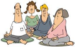Grupp av meditators Arkivfoton