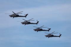 Grupp av Mi-28 Fotografering för Bildbyråer