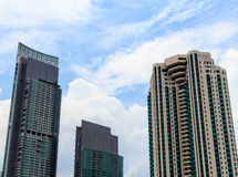 Grupp av moderna kontorsbyggnadar Royaltyfri Bild