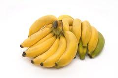 Grupp av mogna bananer Royaltyfria Bilder