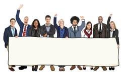 Grupp av multietniskt folk med olika jobb arkivfoton