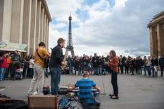 Grupp av musiker fyra Fotografering för Bildbyråer
