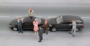 Grupp av mycket litet affärsfolk Arkivbild