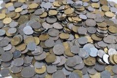 Grupp av mynt för bakgrund och tapet Royaltyfri Foto