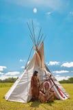 Grupp av norden - amerikanska indier arkivfoto