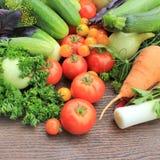 Grupp av nya grönsaker Royaltyfri Bild