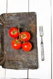 Grupp av nya mogna tomater Arkivbild