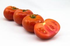 Grupp av nya tomater Arkivbilder