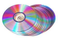 Grupp av nytt färgrikt cd drev. Arkivbilder
