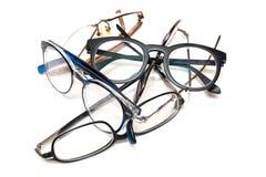 Grupp av oanvänt gammalt glasögon Royaltyfria Bilder